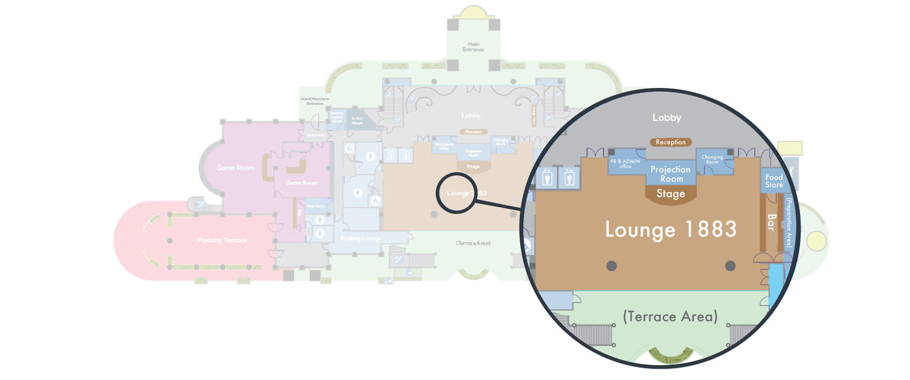 Lounge 1883 Floor Plan