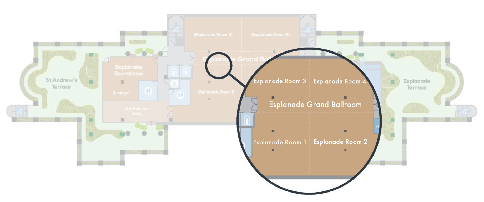 Esplanade Grand Ballroom Floor Plan